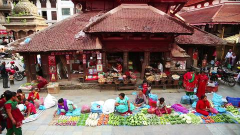 KATHMANDU, NEPAL - JUNE 2013: Everyday scene at Du Stock Video Footage