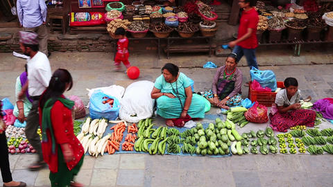 KATHMANDU, NEPAL - JUNE 2013: Everyday scene at Du Stock Video Footage
