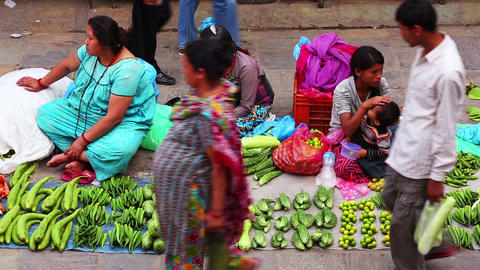 KATHMANDU, NEPAL - JUNE 2013: Everyday scene at Du Footage