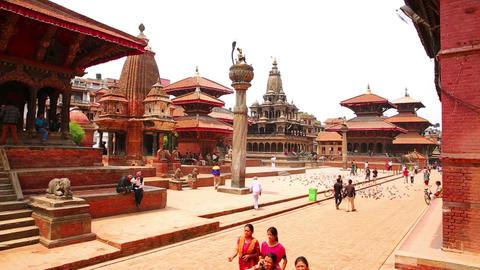 KATHMANDU, NEPAL - JUNE 2013: Everyday scene, Pata Stock Video Footage