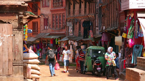 KATHMANDU, NEPAL - JUNE 2013: Everyday scene, Bhak Stock Video Footage