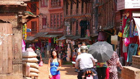 KATHMANDU, NEPAL - JUNE 2013: Everyday scene, Bhak Footage