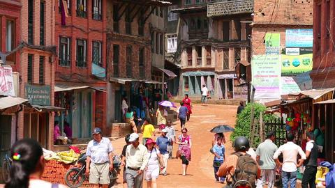 KATHMANDU, NEPAL - JUNE 2013: Everyday scene, Bhak Stock Video Footage