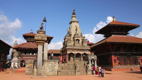 KATHMANDU, NEPAL - JUNE 2013: bhaktapur Durbar Squ Stock Video Footage