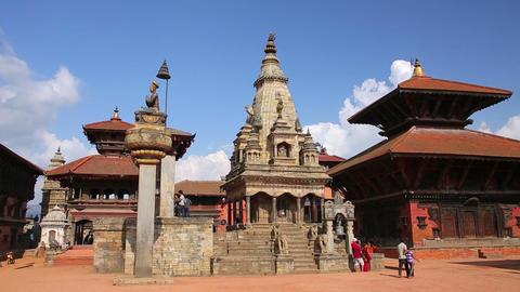 KATHMANDU, NEPAL - JUNE 2013: bhaktapur Durbar Squ Stock Video Footage