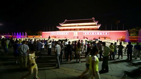 BEIJING, CHINA - JUNE 2013: People at Tiananmen Sq Footage