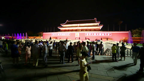 BEIJING, CHINA - JUNE 2013: People at Tiananmen Sq Stock Video Footage