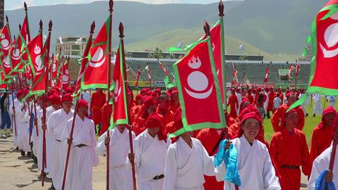 ULAANBAATAR, MONGOLIA - JULY 2013: Naadam Festival Footage