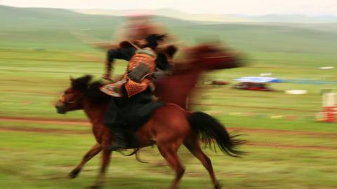 ULAANBAATAR, MONGOLIA - JULY 2013: Mongolian Medie Stock Video Footage