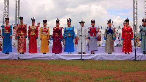 ULAANBAATAR, MONGOLIA - JULY 2013: Mongolian Music Stock Video Footage