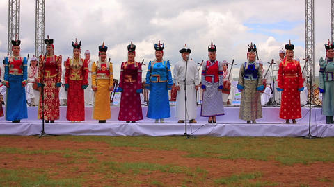 ULAANBAATAR, MONGOLIA - JULY 2013: Mongolian Music Footage