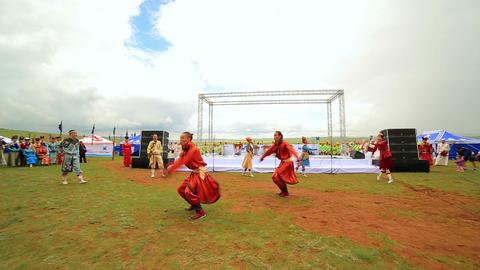 ULAANBAATAR, MONGOLIA - JULY 2013: Mongolian Stage Stock Video Footage