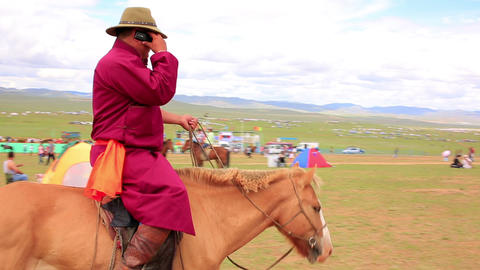 ULAANBAATAR, MONGOLIA - JULY 2013: Mongolian peopl Stock Video Footage