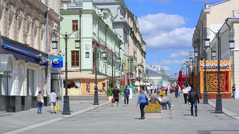 MOSCOW, RUSSIA - JUNE 2013: Everyday life in stree Stock Video Footage