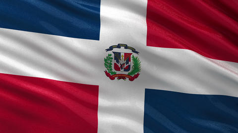 Flag of the Dominican Republic seamless loop Animation