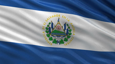 Flag of El Salvador seamless loop Animation