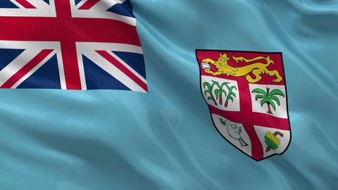 Flag of Fiji seamless loop Stock Video Footage