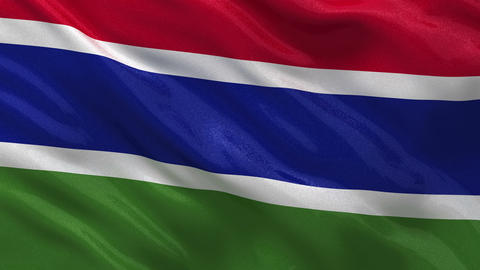Flag of Gambia seamless loop Stock Video Footage