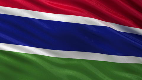 Flag of Gambia seamless loop Animation