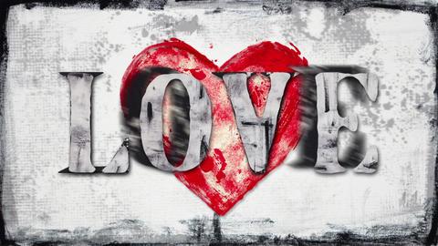 glitch love inscription loop Animation