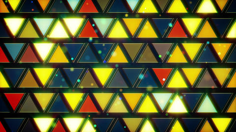 yellow blue flashing triangles loop Animation