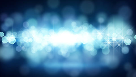 blue circle bokeh lights loop background Stock Video Footage
