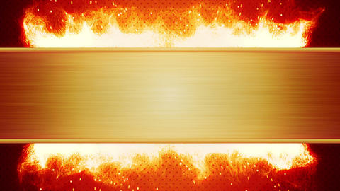 Blank Plate And Flaming Fire Loop stock footage