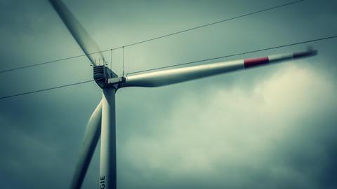 Wind Turbine Close Stock Video Footage