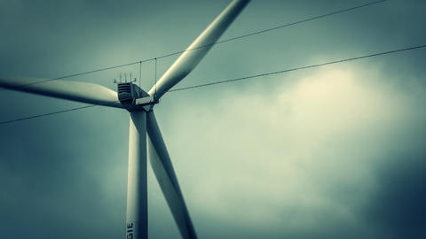 Wind Turbine Close stock footage