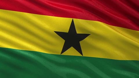 Flag of Ghana seamless loop Animation
