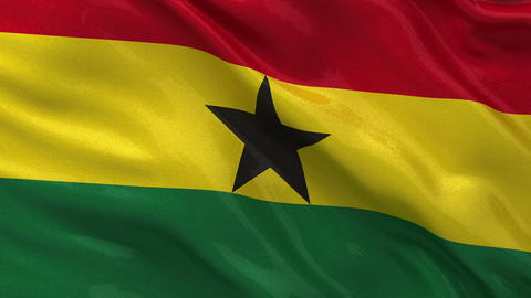 Flag of Ghana seamless loop Stock Video Footage