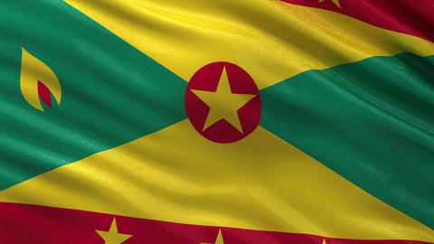 Flag of Grenada seamless loop Animation