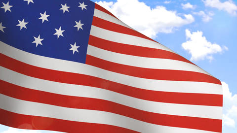 Waving Flag of USA Stock Video Footage
