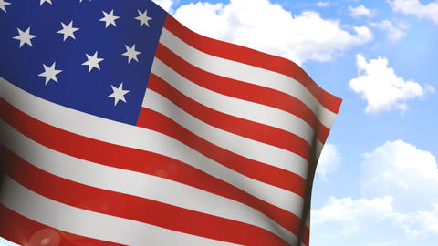 Waving Flag Of USA stock footage