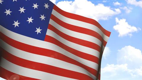 Waving Flag of USA Animation