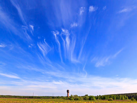 Clouds over the field. Time Lapse. 640x480 Footage