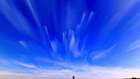 Summer landscape. Clouds blurred. Time Lapse. 4K Footage