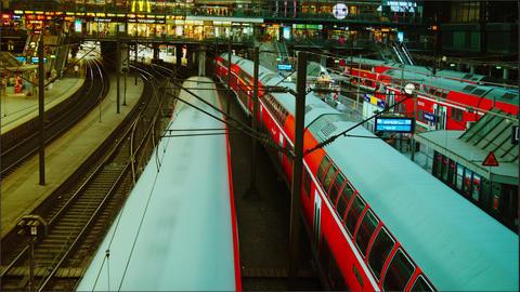 Hamburg Main train station,time lapse,4k Stock Video Footage