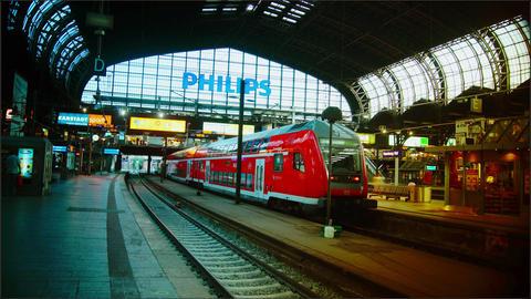 Hamburg Main train station,time lapse,4k Footage