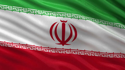 Flag of Iran seamless loop Animation