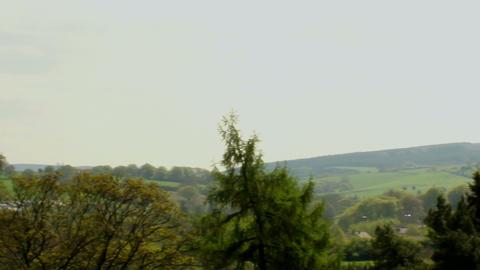 Slide shot of English landscape Footage
