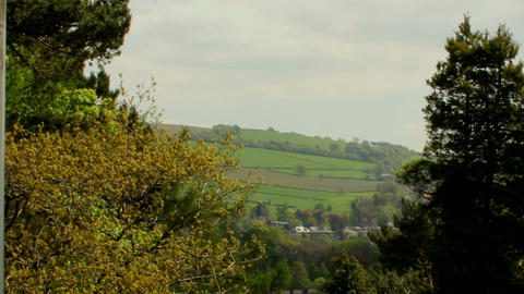 Static Shot Of English Landscape stock footage