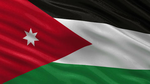 Flag of Jordan seamless loop Animation