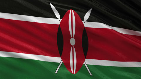 Flag of Kenya seamless loop Animation