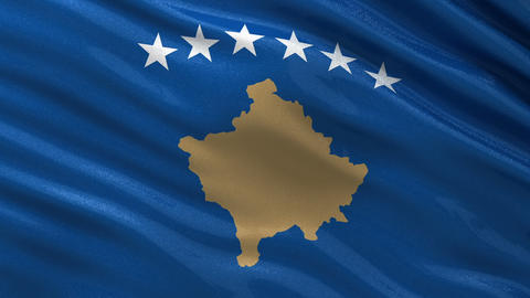 Flag of the Republic of Kosovo seamless loop Animation