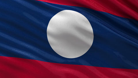 Flag of Laos seamless loop Animation