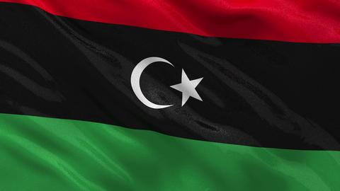 Flag of Libya seamless loop Stock Video Footage