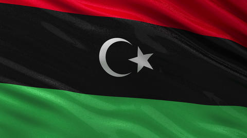 Flag of Libya seamless loop Animation