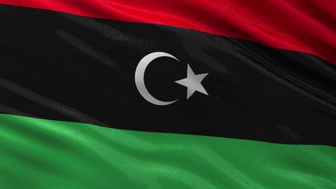 Flag of Libya seamless loop Animation