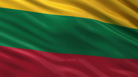 Flag of Lithuania seamless loop Animation